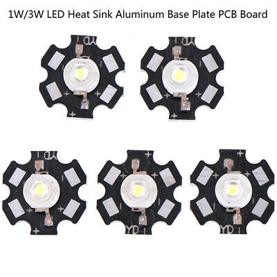 25//100pcs Heat Sink LED Aluminum Base Plate PCB Board Substrate 20mm Star KitM/&C