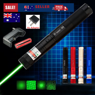 Military High Power Green Laser Pointer Pen with 18650 Rechargable Battery AU
