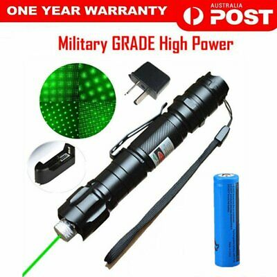 Military High Power Green Laser Pointer Pen with Rechargable Battery AUSTRALIA