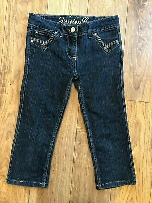Girls Cropped Denim Sparkly Jeans Trousers Age 11 to 12 Denim & Co