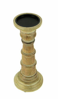 Large Turned Wooden Candlestand With A Natural Wood Finish BE002