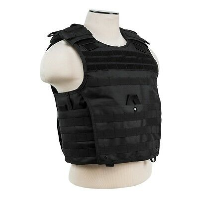 NcStar VISM BLACK Tactical MOLLE Operator Plate Carrier Body Armor Chest Rig SM