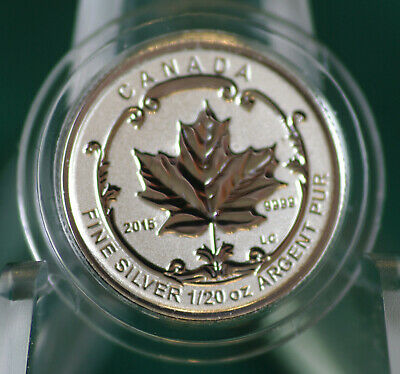 2015 CANADA $1 Incuse Silver Maple Leaf 1/20 oz Rev proof from Fractional set