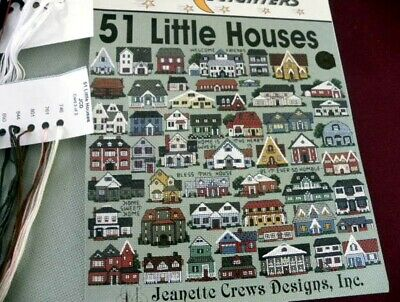 51 Little Houses Cross Stitch KIT One Nighters Jeanette Crews