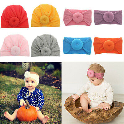 Baby Hairbands Accessories Turban Headwrap Cap Headbands Hat Toddler Bow  Kids
