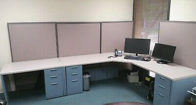 Steelcase office desk w/partitions - Office moving sale