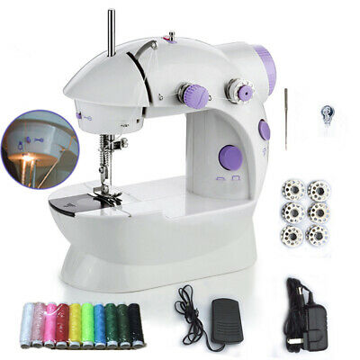 Electric Sewing Machine 2 Speed Portable Foot Pedal Two-Wire Stiching Tools Sets