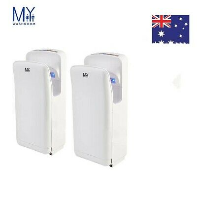 Jet Hand Dryer Commercial High Speed Brush Wall Mounted/2Pcs