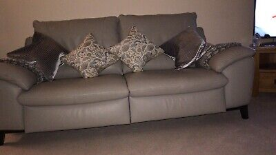 3 SEATER LEATHER electric recliner sofa - £200.00 | PicClick UK