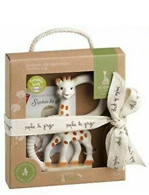Vulli Sophie The Giraffe so Pure Teething Ring Teether Gift 100% Natural Rubber
