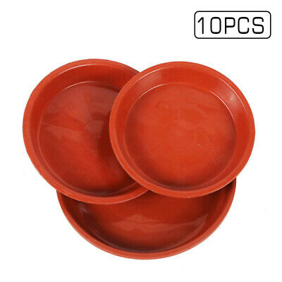 10Pcs Red Plastic Saucer Planter Plant Pot Saucers Water Tray Base Tool 4 Sizes