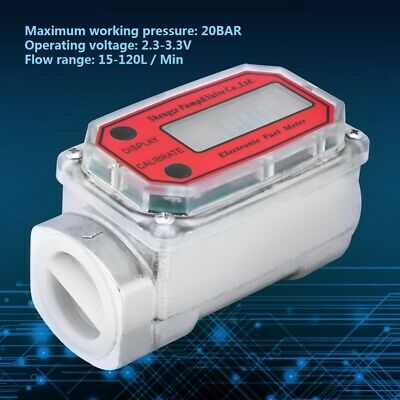 Digital High Accuracy Turbine Fuel Flowmeter 120L For Measuring Diesel Kerosene