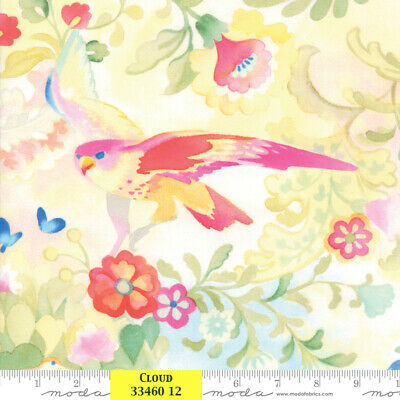 Flight of Fancy PANEL 13431   2//3 YD  100/%  Cotton Fabric Paintbrush Studio