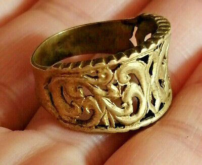 Ancient Medieval Romain Ring Bronze Beautiful Very Stunning Rare