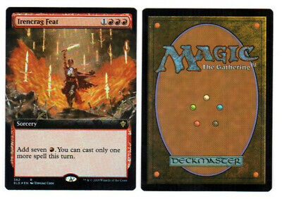 MTG *FOIL* Irencrag Feat (Extended Art) Throne of Eldraine Rare