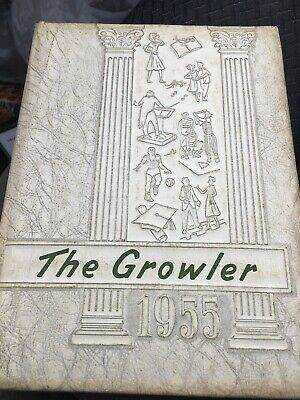 Rare 1955 Tishomingo Mississippi High School Yearbook, The Growler