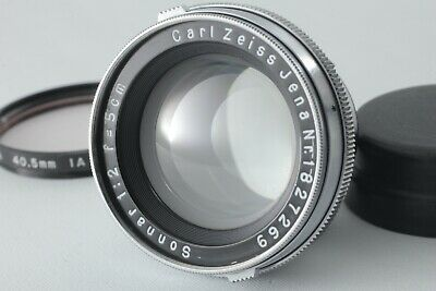 """"""" Finished CLA!! EXC+5 """" Carl Zeiss Jana Sonnar 50mm 5cm f/2 MF Lens FROM JAPAN"""
