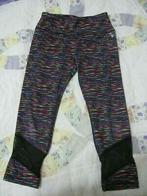 Justice Active Multi-color Stylish Stretch Cropped Capri Leggings Girl's Size 10
