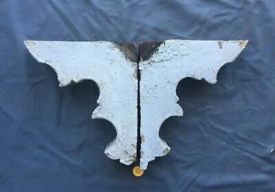 Small Pair Antique Wood Porch Corbels Shabby Vtg Chic Shelf Brackets 446-19J