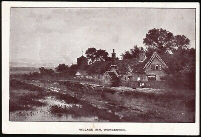 WORCESTER UK: Village Inn (reproduction - see description) good condition, sepia