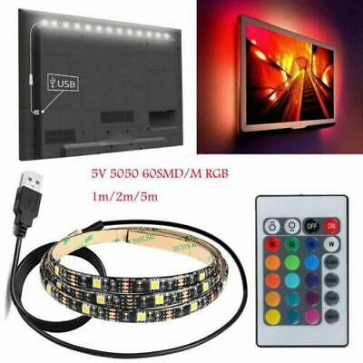 USB Powered RGB LED Strip Light Backlight for LCD TV PC Computer Case Monitor 5V