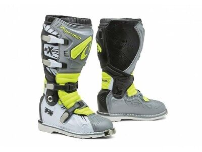Boots Forma Off-Road Motocross MX Terrain TX Grey White Yellow Fluo