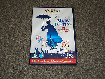 MARY POPPINS : 2 DISC 40th ANNIVERSARY EDITION DISNEY DVD IN VGC (FREE UK P&P)