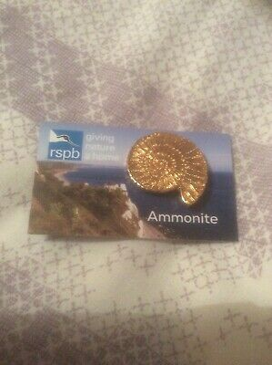 RSPB Pin Badge Ammonite