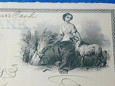 Bank Check, Awesome obsolete note from Banking House of Successor 1883 Nice Art!