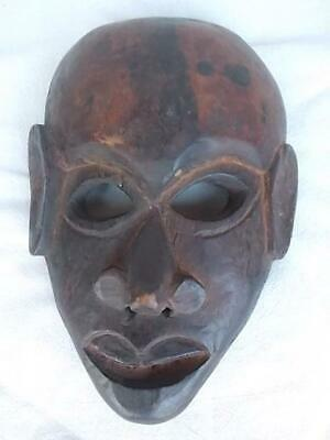 395 / Early To Mid 20Th Century African Tribal Hand Carved Wooden Mask