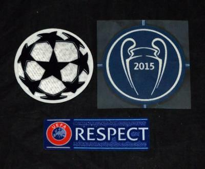 Barcelona Uefa Champions League Starball Respect 2015 winner Badge Patch
