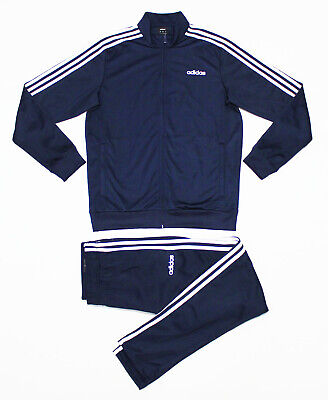 NWT ADIDAS Men's Navy-White Warm-Up Tricot Track Suit Set Jacket & Pants Jogger
