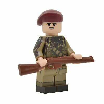 Lego Custom WW2 British Paratrooper  Full Body Printing NEW Brickarms SMLE