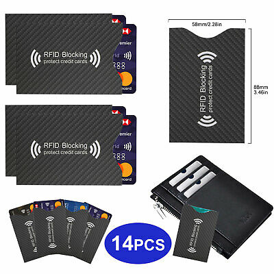 RFID Blocking Sleeve Credit Card Protector Anti Theft Safety Shield Case Cover