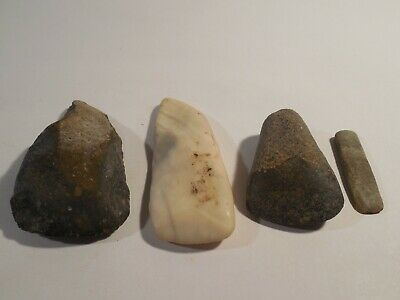 4 Mayan Celts Stone Tools Pre-Columbian Ancient Artifacts Olmec Toltec Aztec
