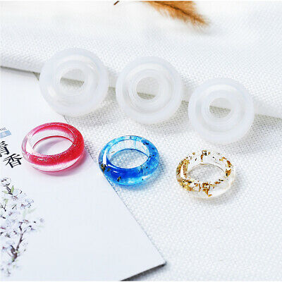 Resin DIY Silicone Handmade Ring Mold for Resin Epoxy Jewelry Making Craft Tool