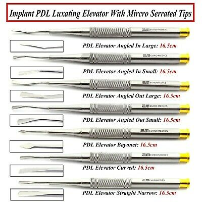 PDL Luxating Elevators Micro Serrated Tooth Root Extracting Veterinary Elevator