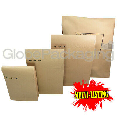 Strong Brown Kraft Paper Mailing Bags Peel And Seal Mailers  *100% Recyclable*