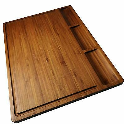 Allsum Large Bamboo Wood Cutting Board for Kitchen Butcher Block Chopping