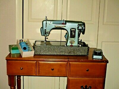 Vintage RODNEY DELUXE750 SEWING MACHINE w BUTTONHOLER Heavy Duty Made in Japan
