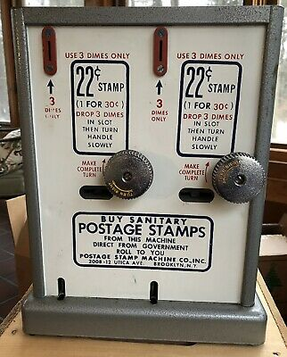 Vintage 30 cent Coil Roll Postage Stamp Machine with keys