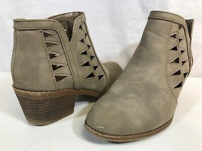 SODA Ankle Boots Tan Fashion Dress Shoes Booties Girls Size 3