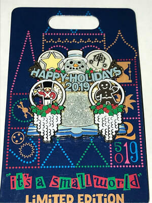Disneyland  2019  It's A Small World  Happy Holidays  Pin  LE 3000