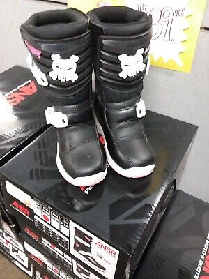 Washable Insole Boots Black//Pink K11 New Answer-MX Pee Wee Child Removable