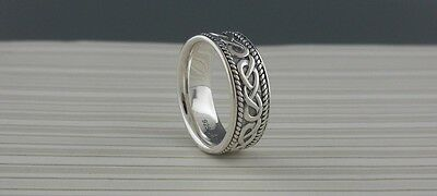 STERLING SILVER CELTIC KNOT WEDDING RING IRISH Made in Ireland Shanore