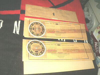 Not Antique Wilfrid O White & Sons Inc Transparent Course Protractor Navigation