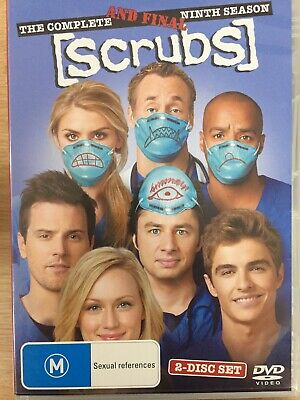 SCRUBS - Season 9 2 x DVD Set AS NEW! Complete Ninth Final Series Nine