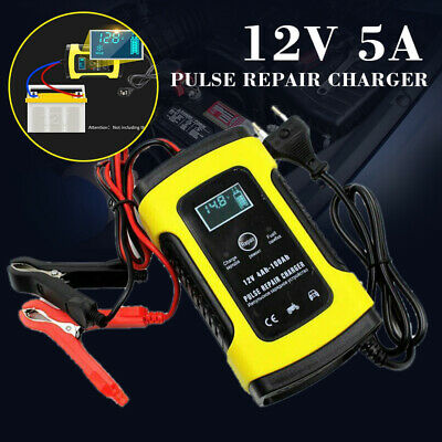 12V 5A Intelligent Battery Charger Auto Car Truck Motorcycle Battery Charger