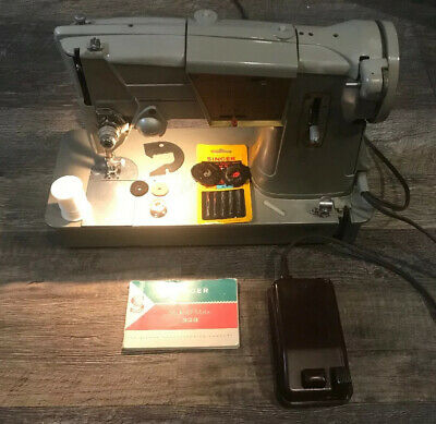 Vintage Singer Style-O-Magic  328 Sewing Machine With Extra Attachments Manual
