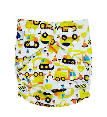 Modern Cloth Reusable Washable Baby Nappy Diaper & Insert, Construction